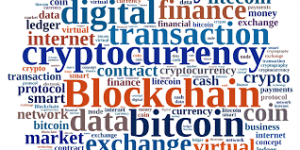 cryptocurrency illustration tag cloud
